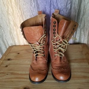 Aldo lace up cognac color boots